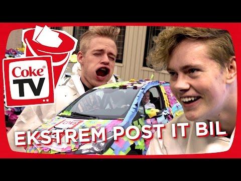 EKSTREM POST IT BIL | #CokeTVBucketlist