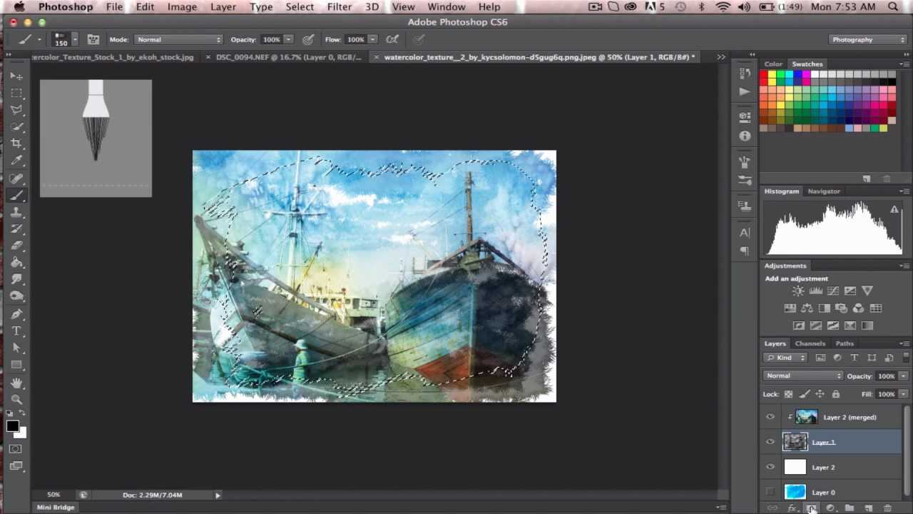 how to make watercolor effect in photoshop cs6