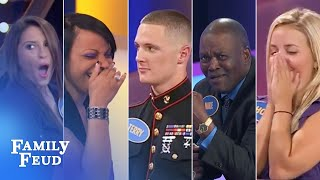 ALL-TIME GREATEST MOMENTS in Family Feud history!!! | Part 10 | TOP 5 EPIC BUZZER BREAKDOWNS!!!
