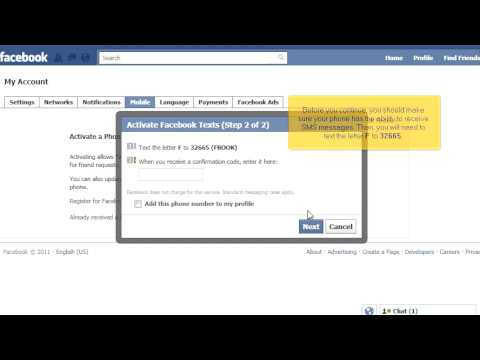 How to Receive Facebook Notifications via SMS