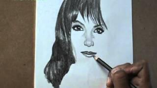 Dibujar un retrato con lapiz de grafito