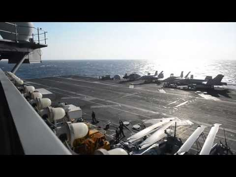 140313-N-XI307-004: USS George H.W. Bush (CVN 77) Conducts Flight Ops in Med