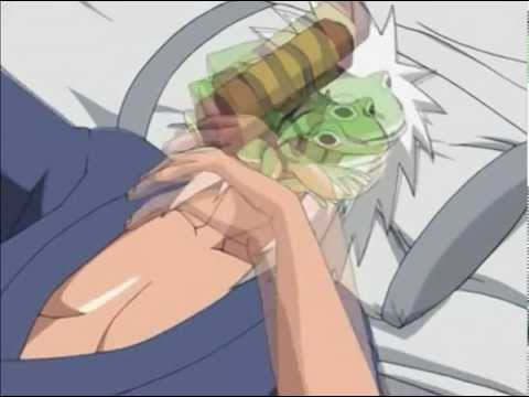 Jiraiya is molested by a messenger toad for around 4:17 minutes while sleeping.nar