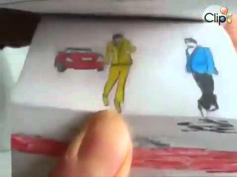 gangnam style hoạt hình trên giấy