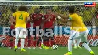 David Luiz Fantastic Freekick Goal Vs Colombia (Brazil 2-0
