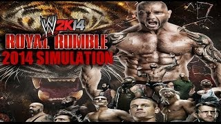 WWE Royal Rumble 2014 WWE 2K14 Simulation