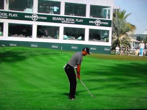Tiger Woods - Nearly Holes a 60-Yard Wedge (2014)