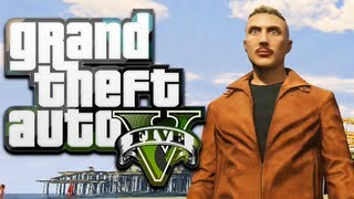 GTA 5 Online Funny Moments - MACKLEMORE, Getting Jumped, Crazy Cops, & Monkeys!
