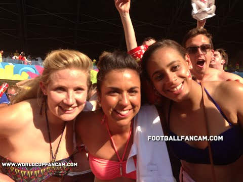 England v Costa Rica, World Cup Brazil 2014 -  Fan terrace reactions pre-post and during match