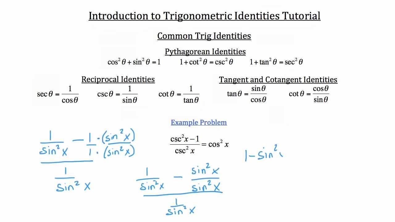 08PP02 Quiz - Basic Trigonometric Identities Images - Frompo