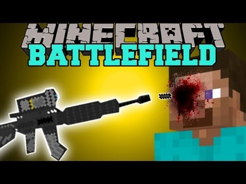 Minecraft: BATTLEFIELD (3D GUNS, CAMO ARMOR, & GRENADES) Mod Showcase