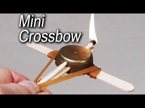 Comment fabriquer une mini arbalète ?