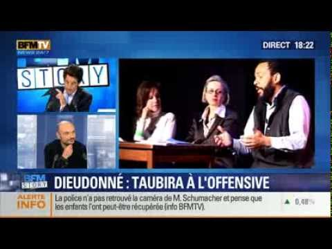 3 / Dieudonné attaqué sur BFM TV. Par Malka, Taubira et le Fisc