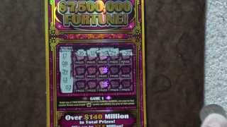 """7,500,000 Fortune"" Texas Lottery $50 Scatch Off Ticket"