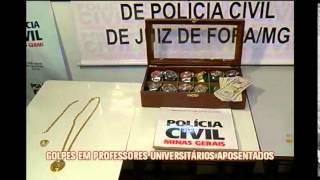 Presa quadrilha que aplicava golpes em professores universit�rios em Minas e RJ