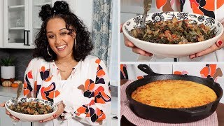 Tia Mowry's Thanksgiving Collard Greens & Cornbread | Quick Fix