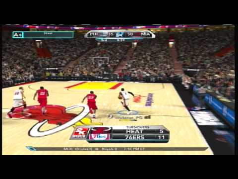 NBA 2K10   My Player   Phi @ Heat