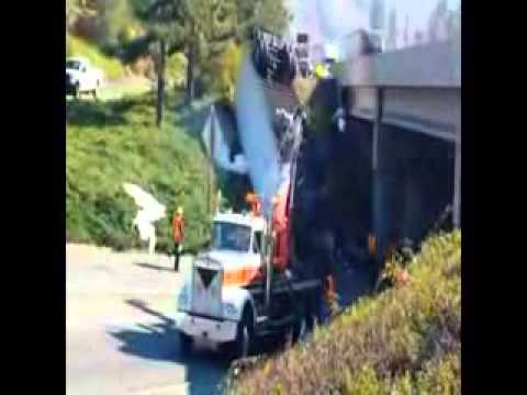 Truck Wreck Recovery by Caveman Towing on 10/24/2013 in GrantsPass, OR