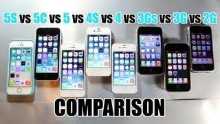 เปรียบเทียบความแรง iPhone 5S, 5C, 5, 4S, 4, 3Gs, 3G และ 2G
