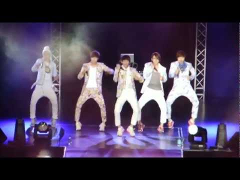 [Fancam] B1A4 Beautiful Target 150612 Boyz Nite Out Singapore Indoor Stadium