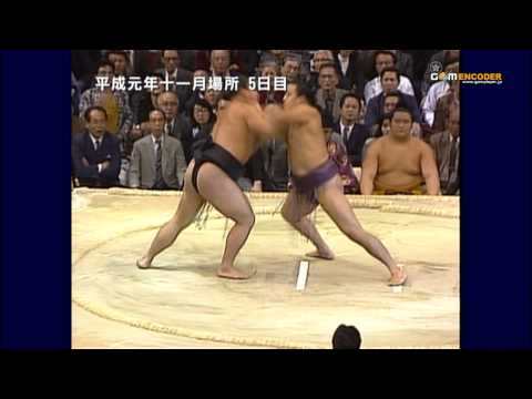 千代の富士vs寺尾 (平成元年十一月場所)