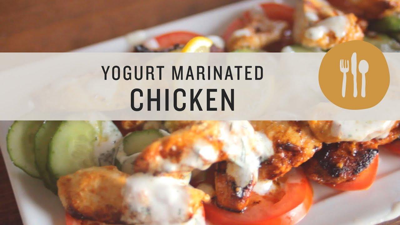 Yogurt Marinated Chicken with Creamy Greek-Inspired Sauce - YouTube