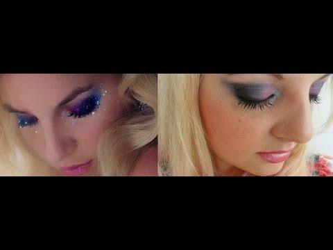 Tutorial Maquiagem com olho degradê esfumado preto/azul/roxo/lilaz/rosa inspirado na foto