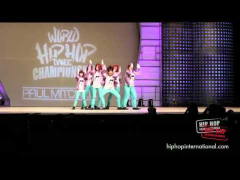 (HD) BUBBLEGUM CREW NZ- HIP HOP INTERNATIONAL 2011 - GOLD MEDAL JUNIOR DIVISION