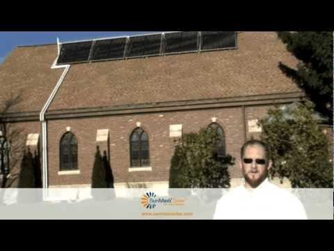 SunMaxx Solar Thermal System at Church in Sidney