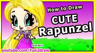 How To Draw Disney Princesses & Characters Rapunzel From