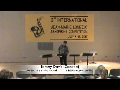 3rd JMISC. Tommy Davis Prelude Suite n5 J.S Bach