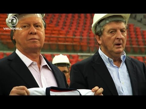 England manager Roy Hodgson gets first look at Arena Amazonia in Manaus
