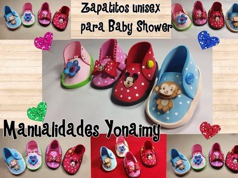 ZAPATITOS UNISEX  PARA BABY SHOWER DE FOAMY O GOMA EVA