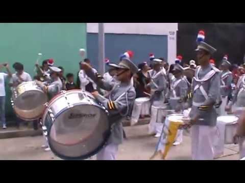 Desfile 11 de agosto 2014, Banda Escolar Colegio San José de Los Infantes, Guatemala