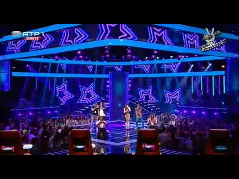 "Anselmo Ralph e Equipa - ""Blurred Lines"" Robin Thicke ft. Pharrel - The Voice Portugal- S2"