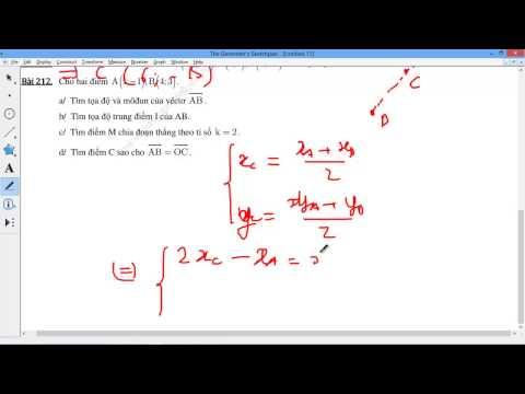 [TOÁN 10 HH] I.B. TỌA ĐỘ VECTOR - 5 Tìm tọa độ điểm đối xứng, tỉ lệ, chia đoạn thẳng AB 209-212