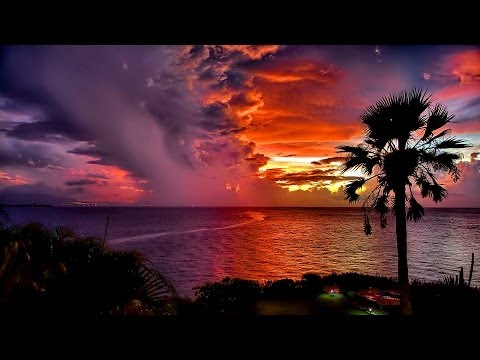 Relaxing Time Lapse with Soothing Music, Sunsets, Stars & Clouds, Full HD video 1080p