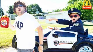 McDonalds Sketchy Mechanic Ditches Drive Thru Officer Ryan Kid Cop catches him Funny Epic Kids Video
