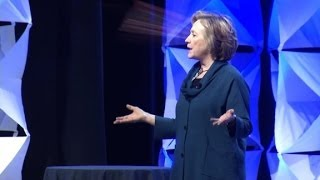 Watch Hillary Clinton dodge a shoe on stage