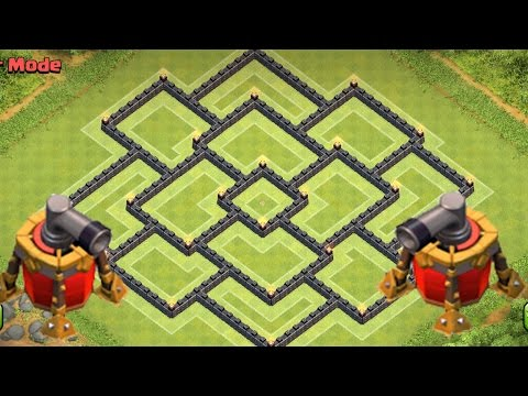 Clash of Clans - Town hall 9 (TH9) War Base and Trophy Base Defense 2015 + 2 Air Sweeper
