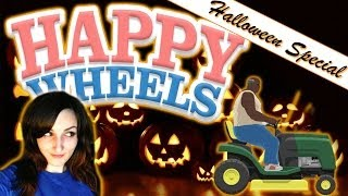 "Halloween Happy Wheels (Special) - ""The Pumpkin Staircase to HELL!!"" - w/ Facecam"