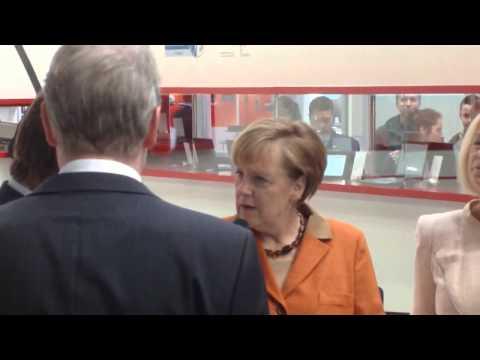 Angela Merkel CeBit 2014 Rundgang (10.03.2014)