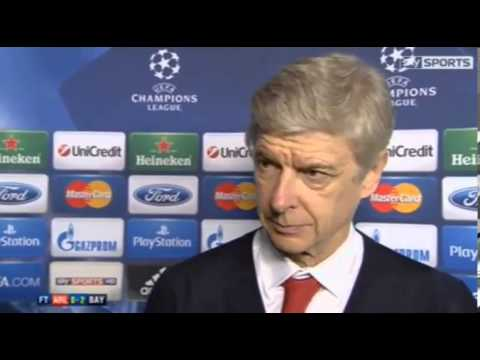 Arsenal 2 Bayern Munich 0  : Arsene Wenger Post Match Reaction