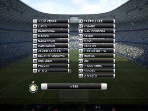 Pes 2012 Inter vs. Bayern (Allianz Arena)