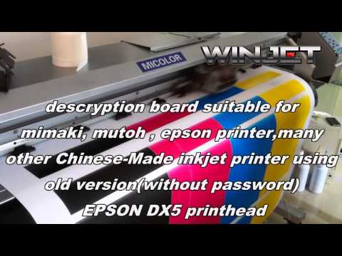 can use in Chinese made Inkjet printer from sales@winjets com
