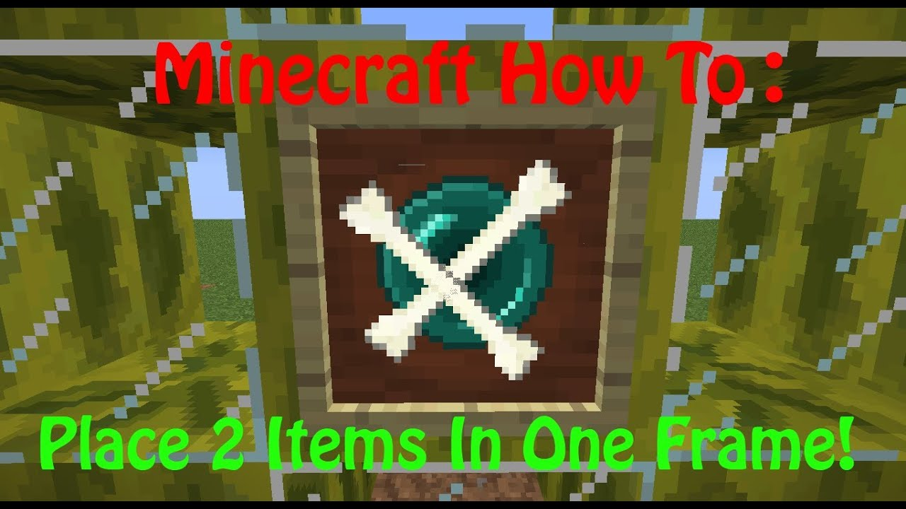 how do you make an item frame in minecraft] with 28+ More Ideas