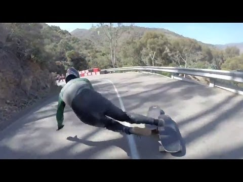 Catalina Island Classic 2014 Guardrail Crash