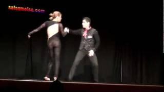 Melissa Fernandez & Luis Vazquez | Bachata Showdance | AISC 2011