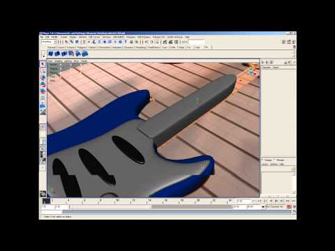 Maya 3d : The Fender Stratocaster Electric Guitar Modeling Part 4