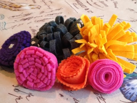 How to Make 5 Different Felt Flowers: Easy to Follow Tutorial